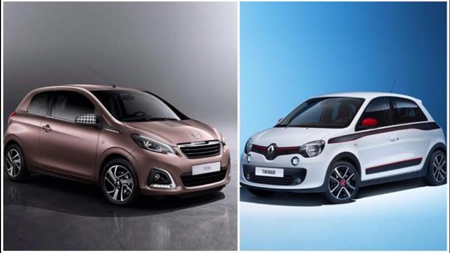 Renault Twingo vs Peugeot 108, quale francesina è più sexy?