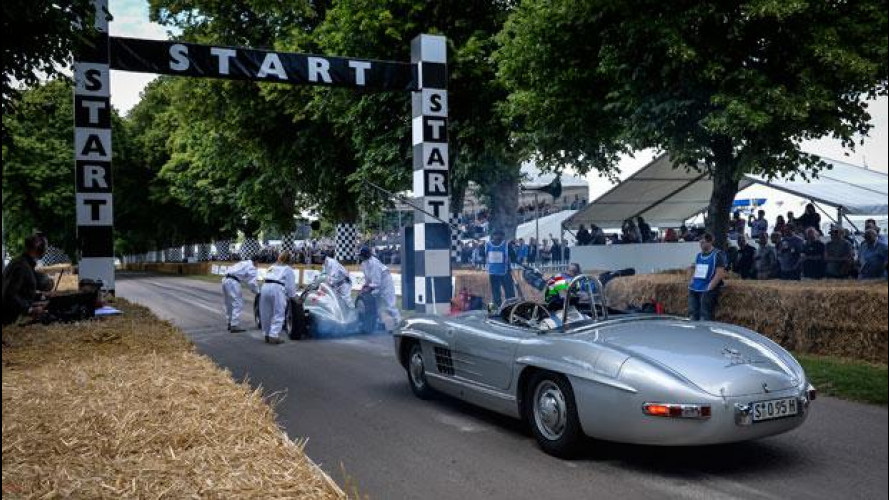 Mercedes, anche Stirling Moss a Goodwood