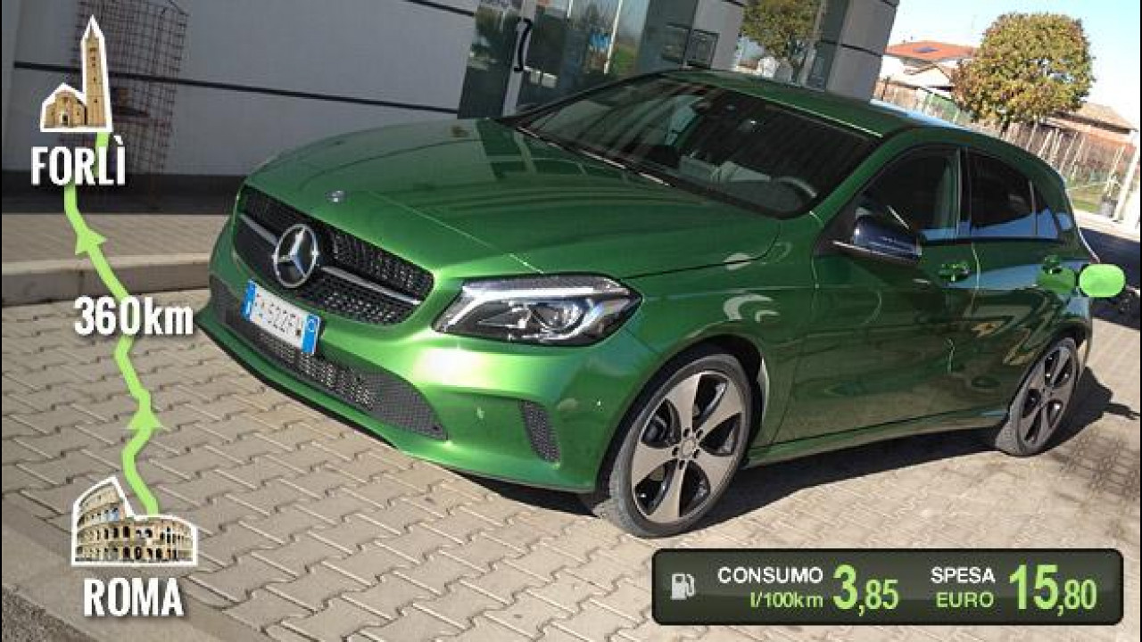 [Copertina] - Mercedes A 180 d, la prova dei consumi reali