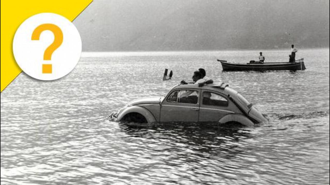 [Copertina] - Il Maggiolino anfibio ha attraversato lo stretto di Messina