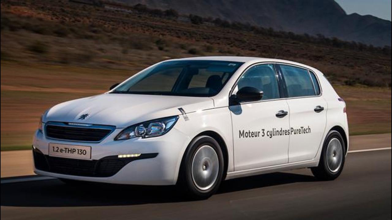 [Copertina] - Peugeot 308, l'auto a benzina dai consumi record