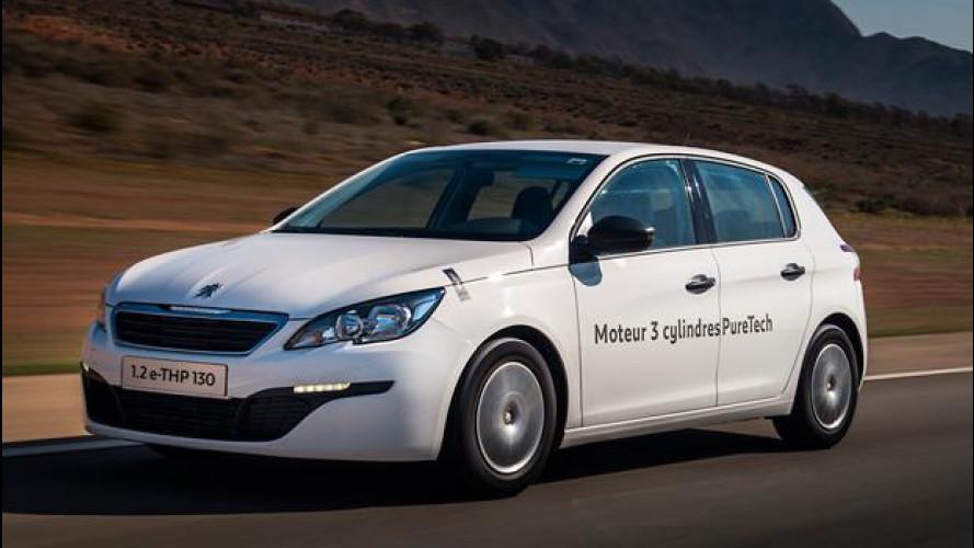 Peugeot 308, l'auto a benzina dai consumi record