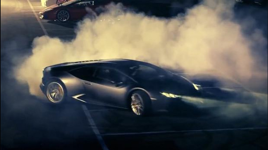 Lamborghini LP 610-4 Huracán, drifting by night [VIDEO]