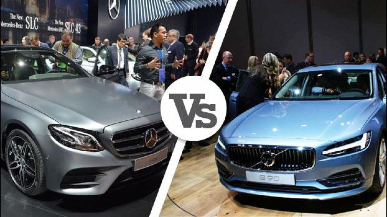 [Copertina] - Sfida a Detroit: Mercedes Classe E vs Volvo S90