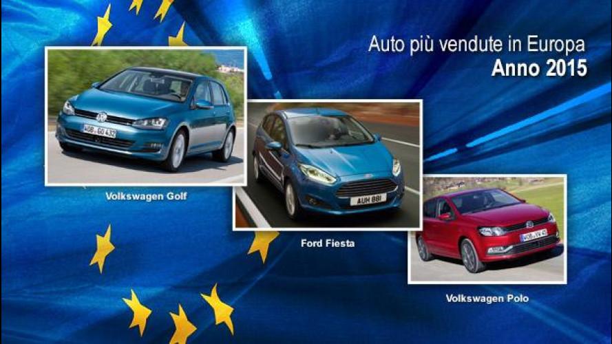 Le auto più vendute in Europa nel 2015
