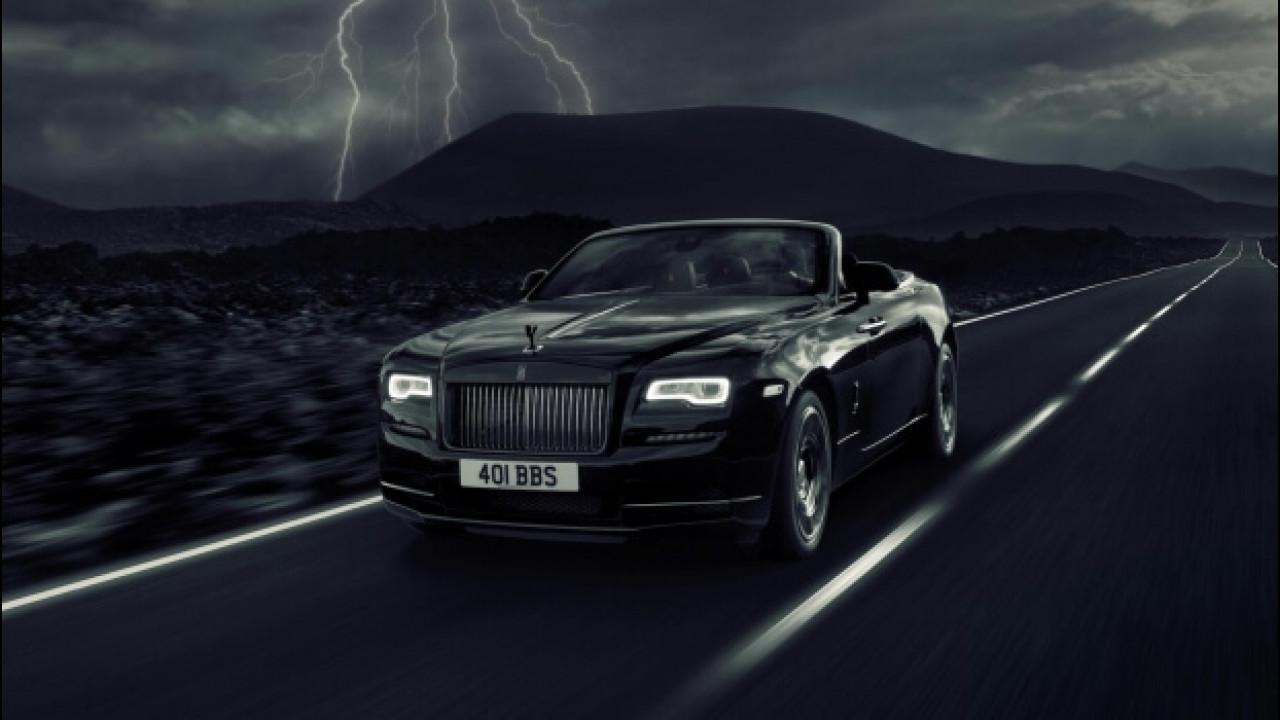 [Copertina] - Rolls Royce Dawn Black Badge, tutta nera e con 600 CV