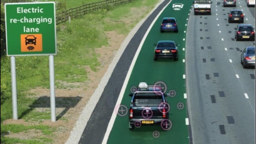 L'auto elettrica si ricarica in autostrada. In velocità