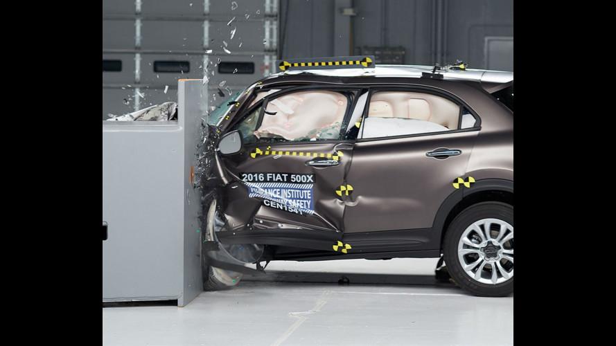Fiat 500X, bottino pieno nel crash test USA