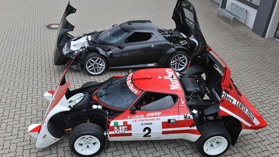 Lancia Stratos gets thrashing on karting track [video]