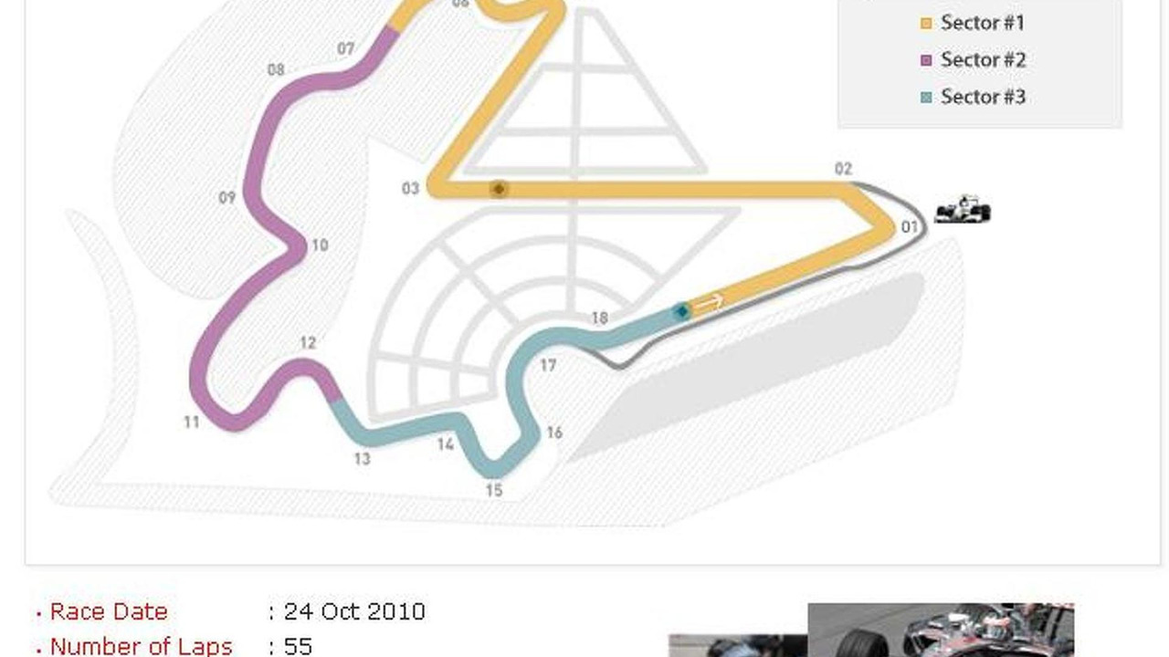 Korean International Circuit Map Grand Prix Yeongam County Circuitmap South Jeolla Korea 631 12042010