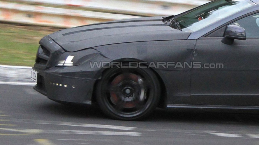 2012 Mercedes CLS 63 AMG latest action photos at Nurburgring