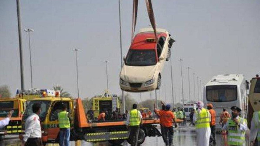 Pile-up in Abu Dhabi leaves 127 vehicles wrecked, 61 injured and 1 fatality