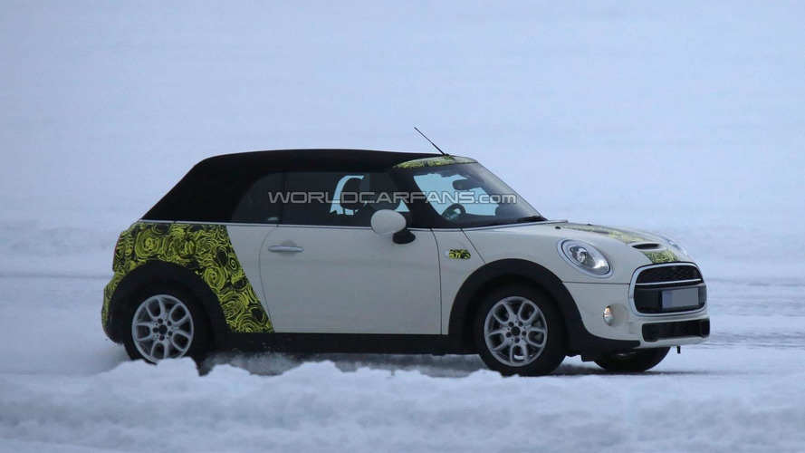 2015 MINI Cooper Cabrio drops some camo in latest spy photos