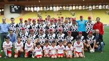 Drivers team at the charity football match 20.05.2014 Monaco Grand Prix