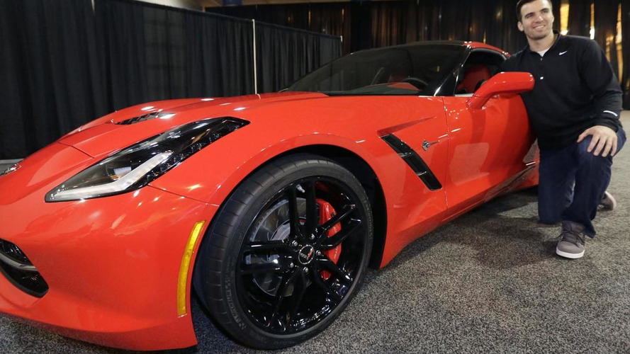 Super Bowl MVP Joe Flacco awarded a 2014 Corvette Stingray