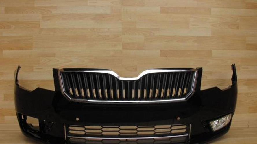 2013 Skoda Superb bumper pops up online