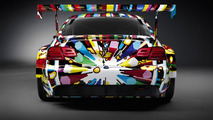 BMW M3 GT2 Art Car by Jeff Koons - Back