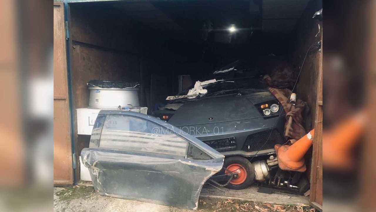 Lamborghini Murciélago détruite