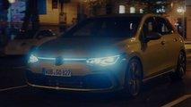 La calandre éclairée de la VW Golf 8