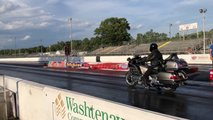 gold wing quarter mile drag race