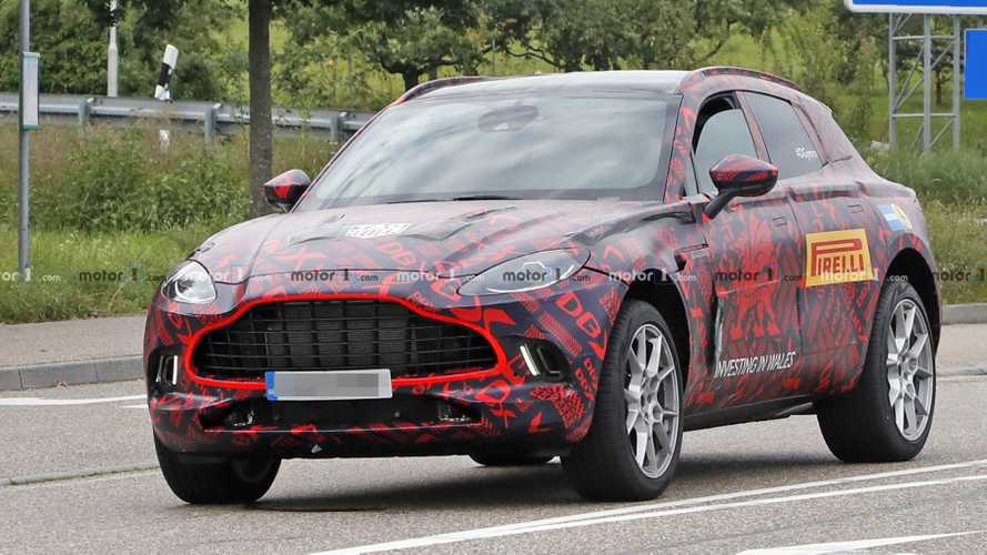 2020 Aston Martin DBX Spied Up Close With Full Production Body