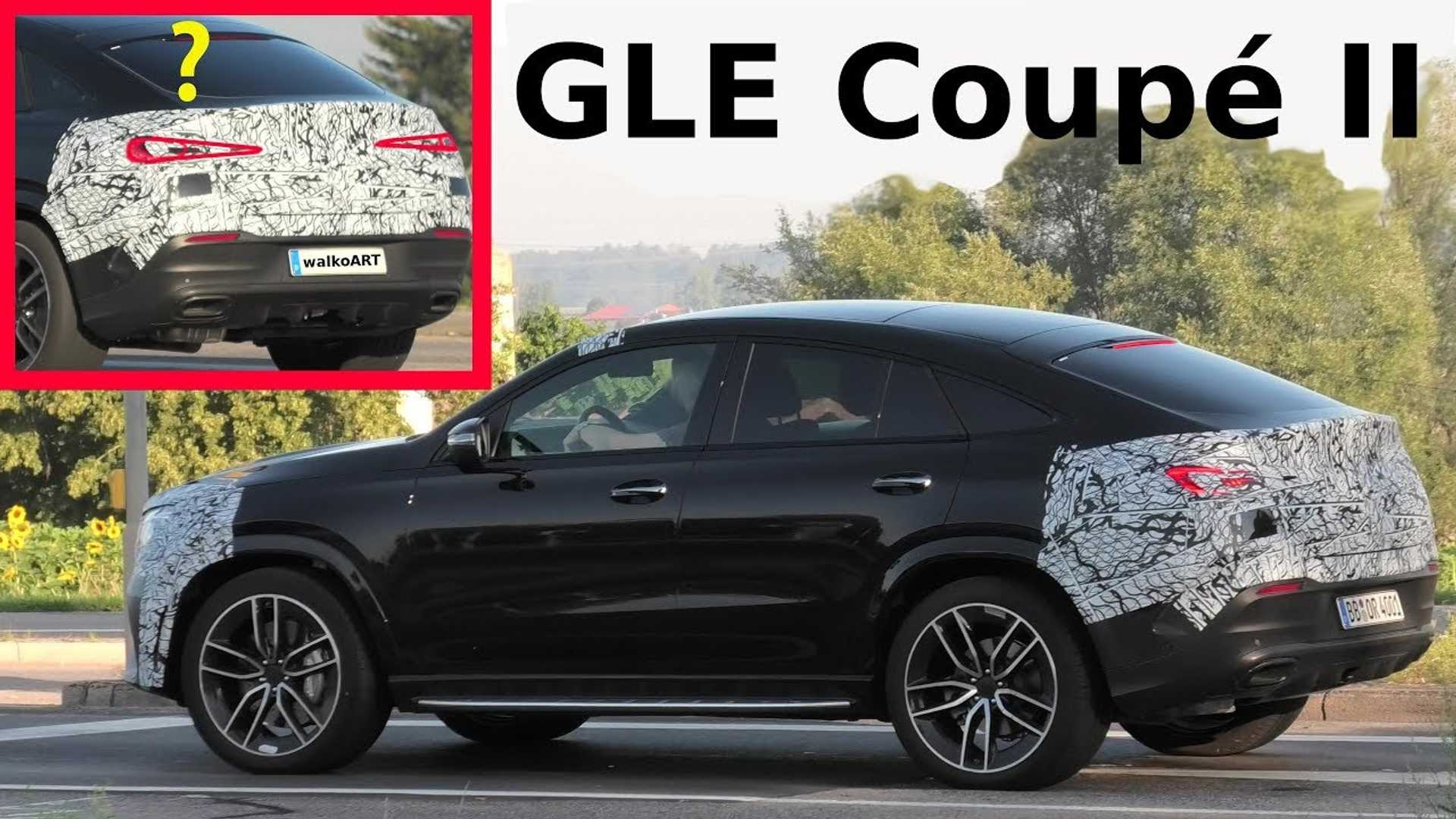 2020 Mercedes Gle Coupe Seen With Minimal Camo Reveal Coming Soon