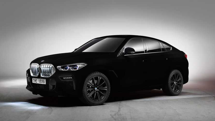BMW X6 in Vantablack (2019)