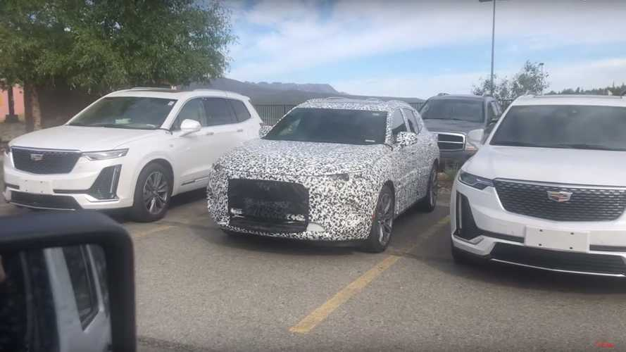 Buick Enspire Spied Resting In Between Two Cadillac XT6s