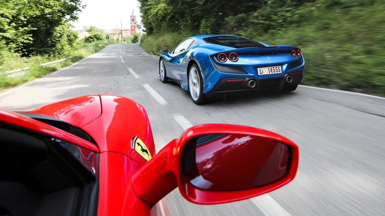 Ferrari F8 Tributo Blue and Red