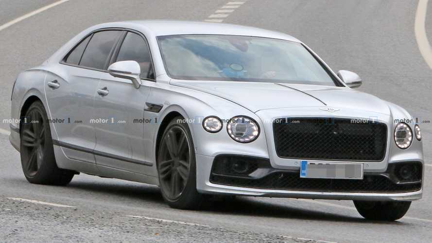 Bentley Flying Spur Speed Spy Spied Showing Off Its Black Trim