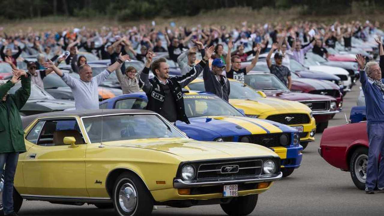 Il più grande raduno di Ford Mustang