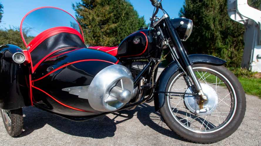 Cycleweird: Gorgeous, Ultra-Rare Pannonia Sidecar Rig