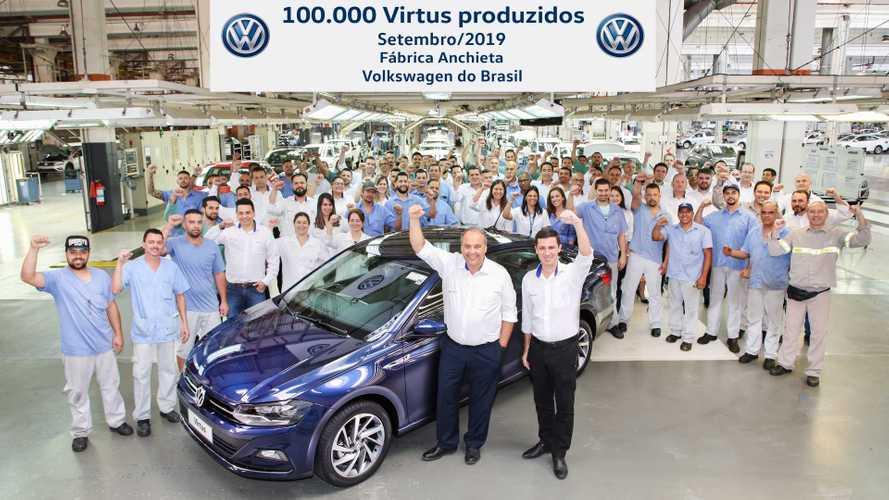 Volkswagen Virtus alcança 100 mil unidades produzidas no Brasil