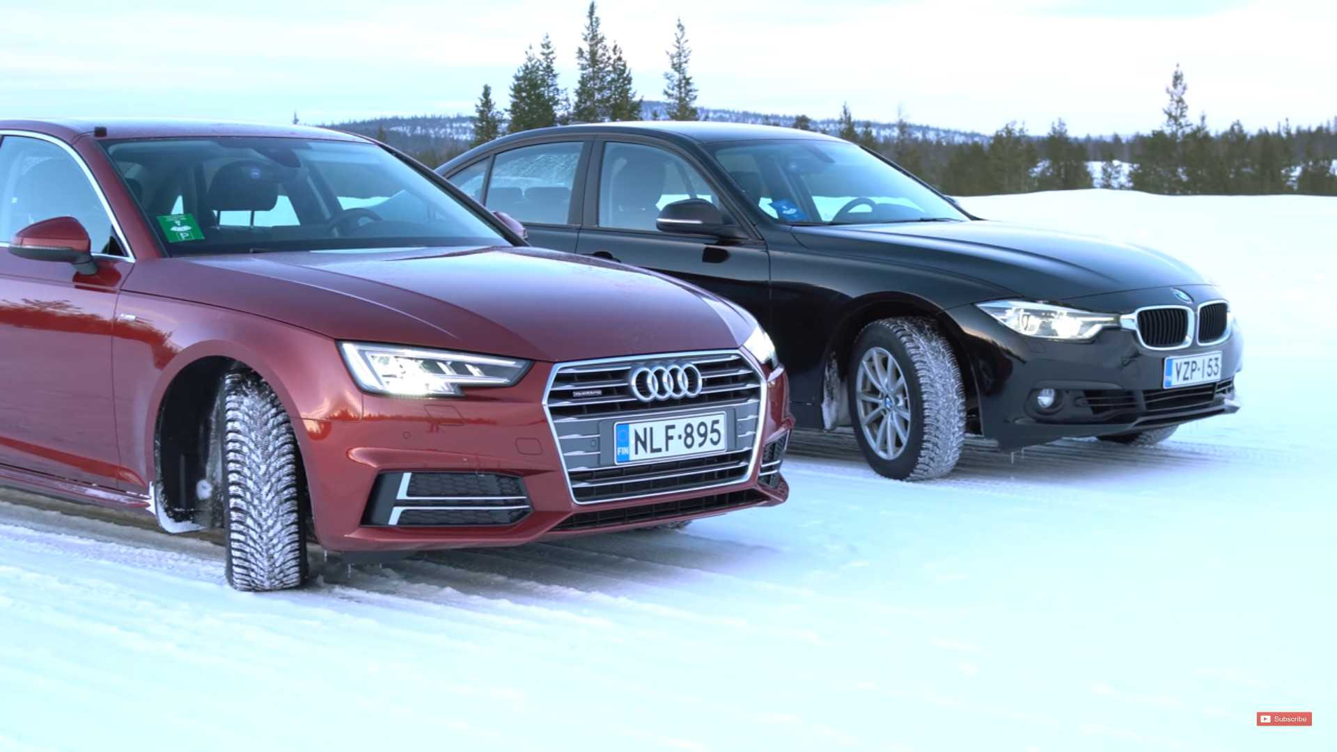 Winter's Coming: Audi Quattro Meets BMW xDrive In Snow Test