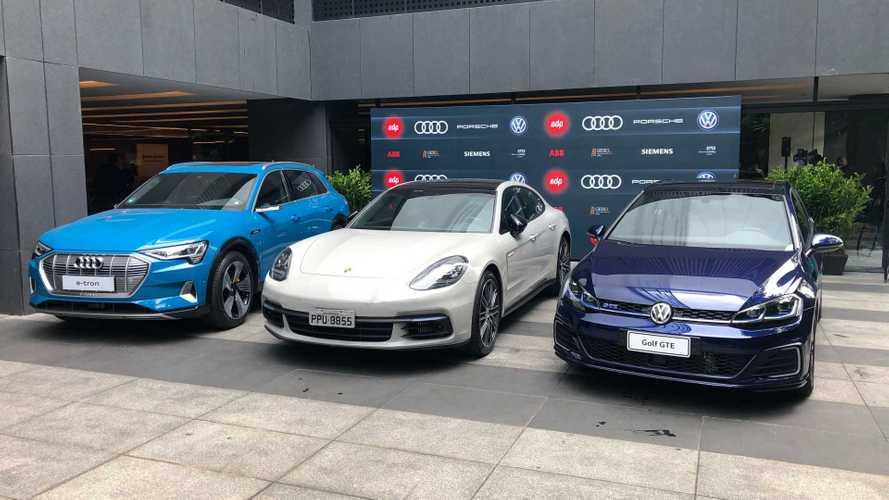 VW, Audi e Porsche firmam parceria para rede de recarga ultrarrápida no Brasil
