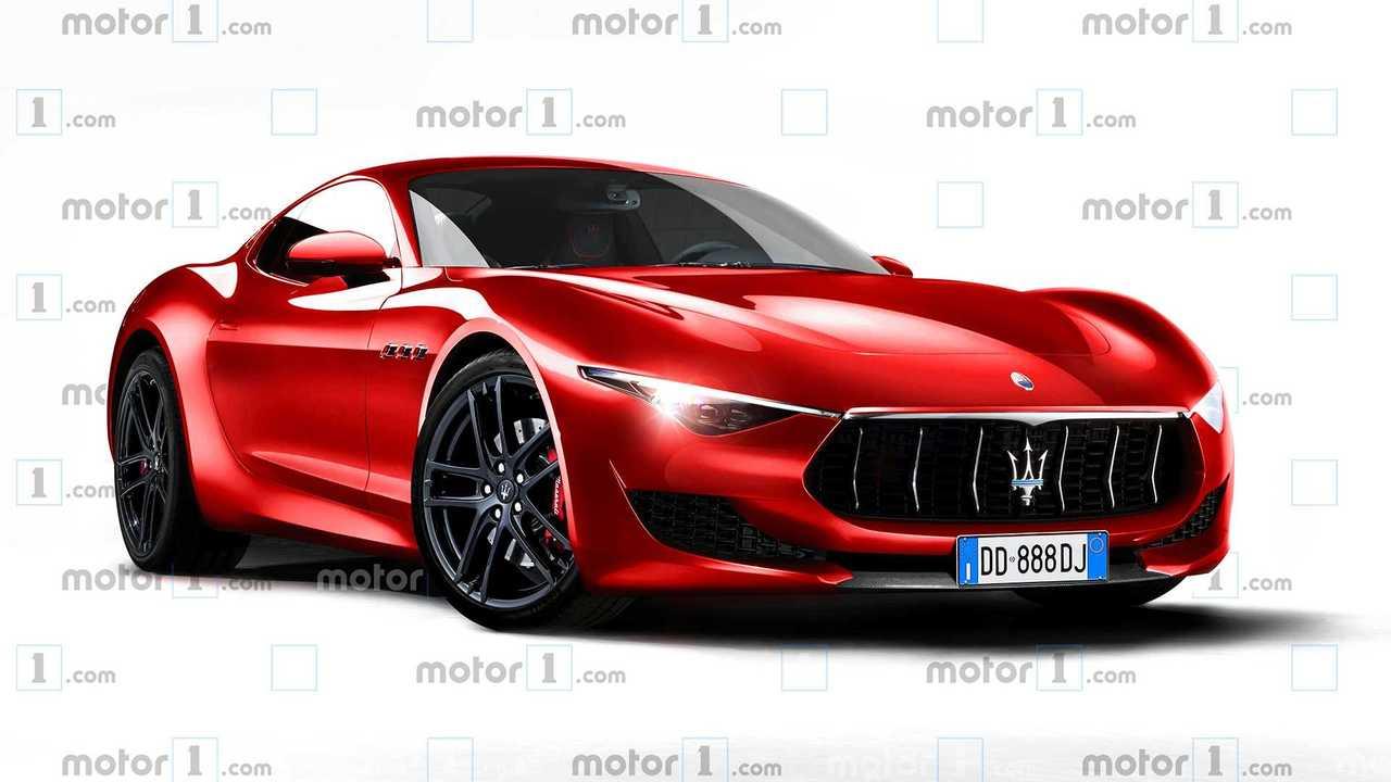 Maserati Alfieri, il rendering