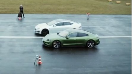 Tesla Model S P100D Vs Porsche Taycan Turbo S At The Strip