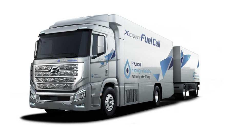 Hyundai H2 Xcient: Lkw mit Brennstoffzellen-Technik