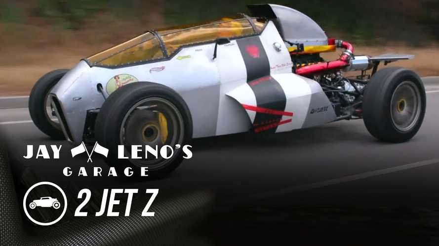 Watch Jay Leno Drive The 2 Jet Z Fighter Plane Car