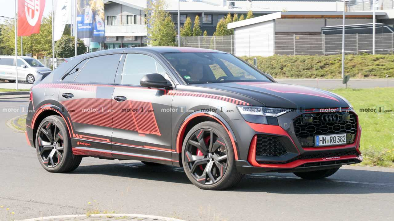 Audi RS Q8 Spied Uncovered With Wild Red Accents UPDATE