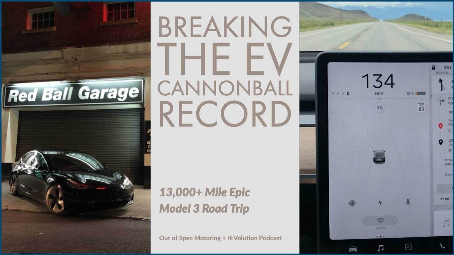 Whopping 13,000-Mile Tesla Model 3 Road Trip, Plus Cannonball Record