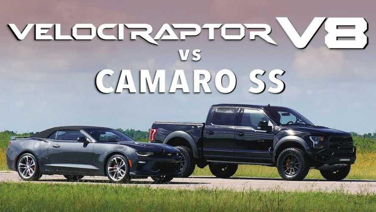 Hennessey Velociraptor V8 Races Chevrolet Camaro SS