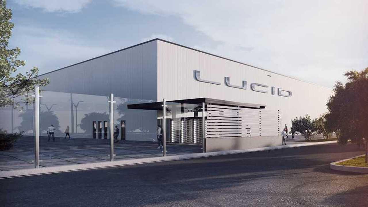 Lucid Motors' factory in Arizona (visualization)