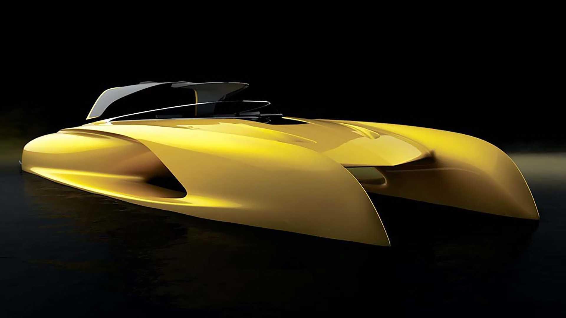 Bugatti Atlantic-inspired boat penned by brand's former designer