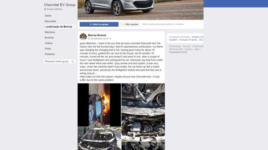 Ukrainian Chevrolet Bolt EV Is The First To Catch Fire We Know About