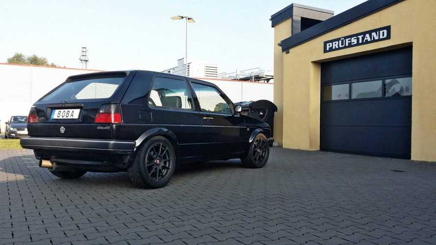 Une VW Golf II de plus de 1200 ch, ça dépote !