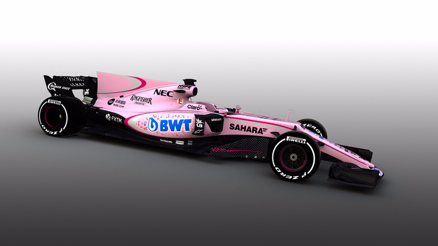 Internet não perdoa nova pintura de carro da Force India
