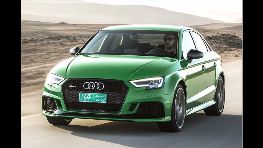 Neuer Audi RS 3 Sportback und Limousine im Test