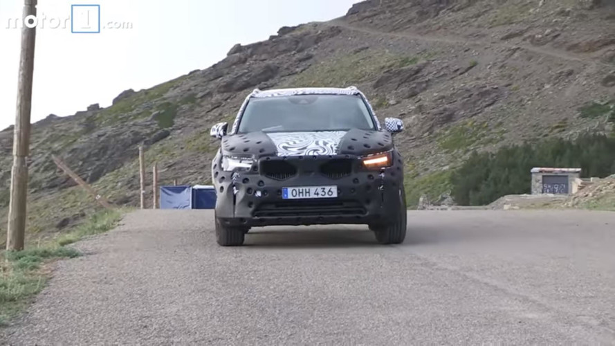 2018 Volvo XC40 screenshots from spy video