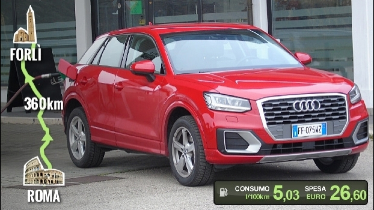 [Copertina] - Audi Q2 1.4 TFSI, la prova dei consumi reali